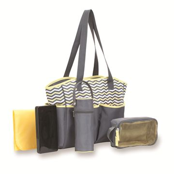 All-in-One 5-Piece Tote Diaper Bag